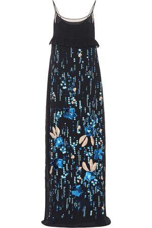 Prada Sequined silk chiffon gown