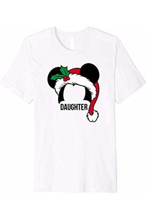 Disney Mickey Mouse Ears Santa Hat DAUGHTER Holiday T-Shirt