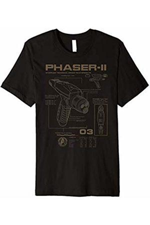 Star Trek Discovery Phaser-II Schematics Graphic T-Shirt