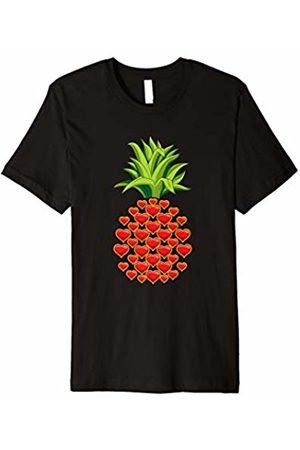 HolidayCouture Cute and Cool Hawaii Pineapple Heart Shirt for Women