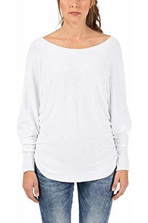 Timezone Women's Battz Sleeve Pullover Jumper, (Pure 0100)