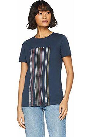 HUGO BOSS Women's Teblurred T-Shirt, (Turquoise/Aqua 440)
