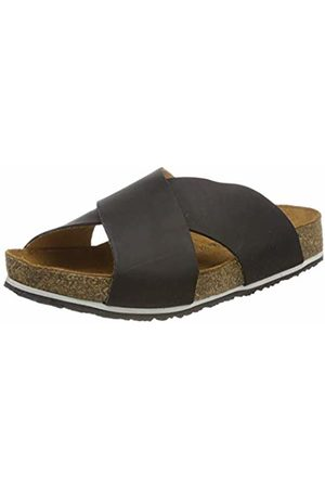Haflinger Women's Mio T-Bar Sandals, (Schwarz 780)