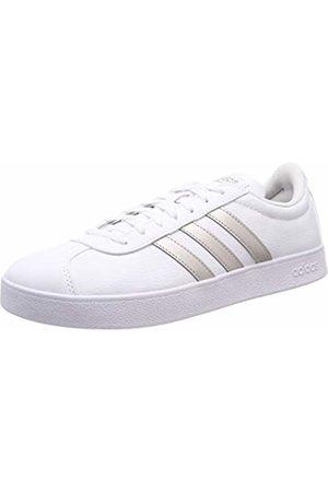 adidas Women's Vl Court 2.0 Skateboarding Shoes, Platinum Met./FTWR