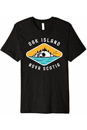 Oak Island Treasure Gifts Men T-shirts - Oak Island Skull Treasure Mystery Gift Shirt