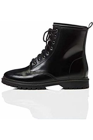find. Lace Up Leather Biker Boots