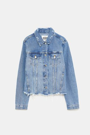 Zara AUTHENTIC DENIM JACKET WITH RIPS