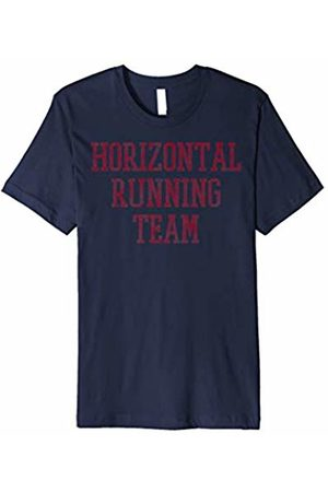 Humor T-Shirt Horizontal Running Team Collegiate Vintage Graphic T-Shirt