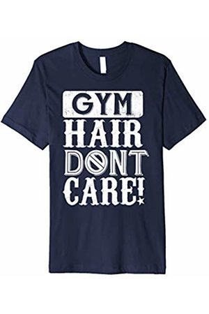 Workout T-Shirt Gym Hair Don't Care White Text Variation Graphic T-Shirt