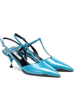 Prada Opanca leather slingback pumps