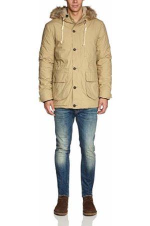 Lee Men's Hooded Long - regular down jacket - Off- - Elfenbein (KHAKI) - 56/58