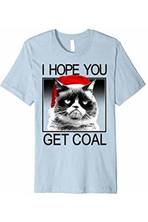 Grumpy Cat Hopes You Get Coal Santa Hat Holiday T-Shirt
