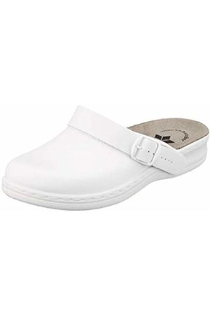 LICO Women's Clog Classic Lady Open Back Slippers, Weiß