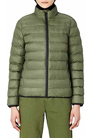 MERAKI Women's Puffer Jacket with High Neck
