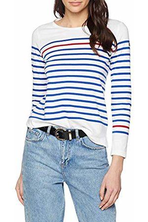 Armor.lux Women's Marinière \rempart\ Femme Long Sleeve Top, Blanc/Etoile/Braise Pm8