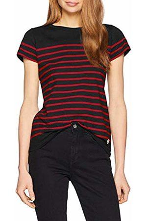 Armor.lux Women's Marinière \etel\ Héritage Femme T-Shirt, Rich Navy/Braise Ii9