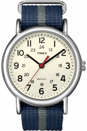 Timex Unisex Special Weekender Slip Through Quartz with Off-White Dial Analogue Display and Nylon Slip Strap T2N654PF