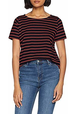 Armor.lux Women's Marinière \hoëdic\ Héritage Femme T-Shirt, Rich Navy/Braise Ii9
