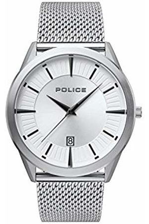 Police Mens Analogue Classic Quartz Watch with Stainless Steel Strap 15305JS/04MM