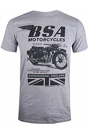 BSA Motocycles Men's Tonal Invert T - Shirt Marl Gym