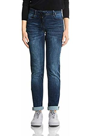 Cecil Women's 371856 Scarlett Straight Jeans, (Mid Wash 10282)