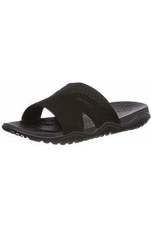 Crocs Men's Swiftwater Leather Slide Men Open Toe Sandals