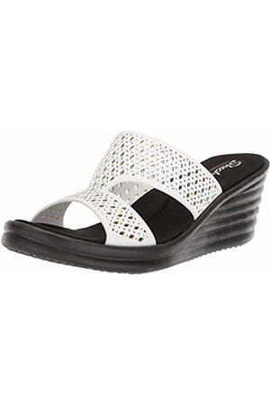 Skechers Women's Rumbler Wave-Ibiza Summer Open Toe Sandals, ( Wht)