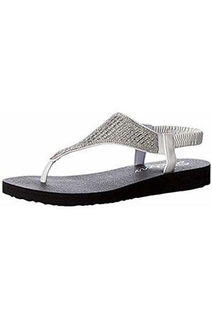 Skechers Women's Meditation-Rock Crown Ankle Strap Sandals, ( Wht)