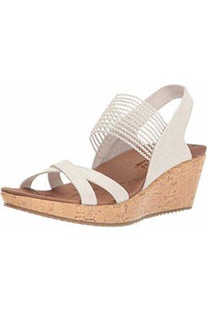 Skechers Women Beverlee-High Tea Open Toe Sandals, (Natural)