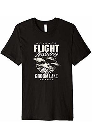Area 51 UFO Hunter Clothing Area 51 UFO Groom Lake Advance Flight training T Shirt