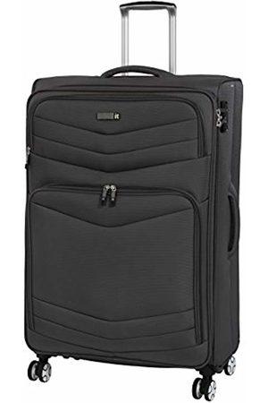IT Luggage 3 Piece Set of Intrepid 8 Wheel Lightweight Semi Expander Suitcases with TSA Lock Suitcase, 80 cm