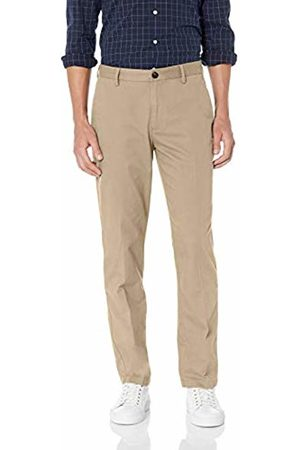 Amazon Essentials Men's Standard Straight-Fit Wrinkle-Resistant Flat-Front Chino Pant, Khaki