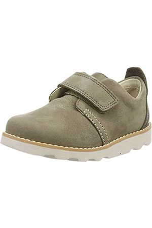 Clarks Boys' Crown Park T Loafers, (Khaki Leather-)