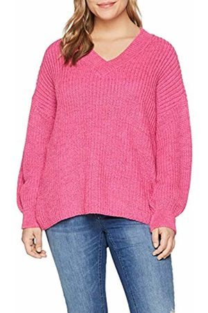 Lost Ink Women's V Neck Jumper with Blouson Sleeve Cardigan