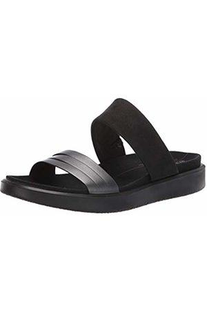 Ecco Women's Flowt W Open Toe Sandals, Dark Shadow Metallic/ 51385