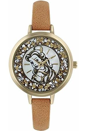 Disney Womens Analogue Classic Quartz Watch with Leather Strap PN5043