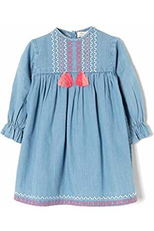 Zippy Baby Girls' Ztg0501_455_2 Dress, (Medium Denim 2565)