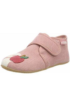 Living Kitzbühel Baby Girls' Babyklettschuh Katze Und Apfel Slippers