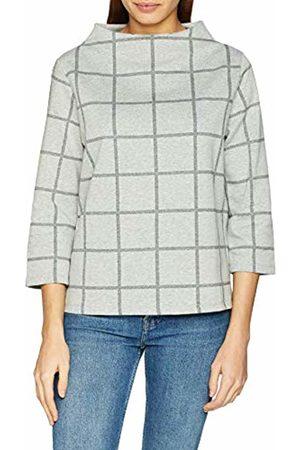Opus Women's Galvi Big Check Sweatshirt, (Iron Melange 8057)