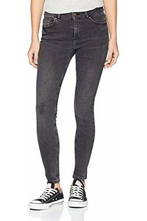 Pieces Women's Pcdelly Mw Crop Slit Mg727-ba Skinny Jeans, Medium Denim