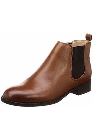 Clarks Women's Netley Ella Biker Boots, (Tan Leather-)