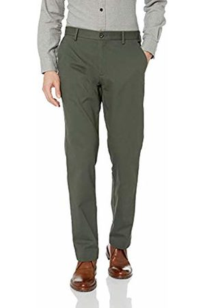 Amazon Essentials Men's Standard Straight-Fit Wrinkle-Resistant Flat-Front Chino Pant, Olive