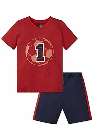 Schiesser Boy's Fußball Kn Anzug Kurz Pyjama Set