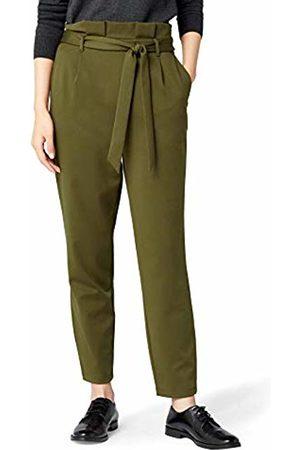 MERAKI Paula Paper Bag Trouser, Dark Olive