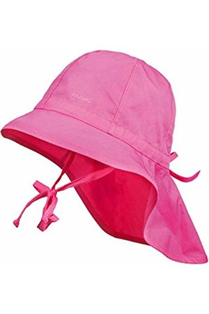 maximo Girl's Sun Protection Hat with Neck Protection And Strings Plain UPF 30+ Hat