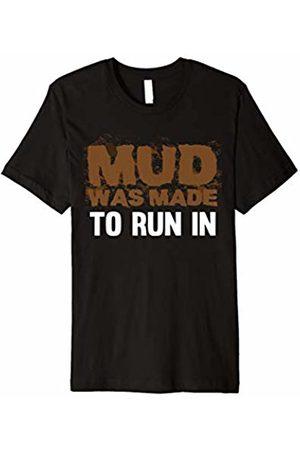 InGENIUS Mud Run Shirts Running in Mud Tee - Mud Run Mudder Runner Tshirt