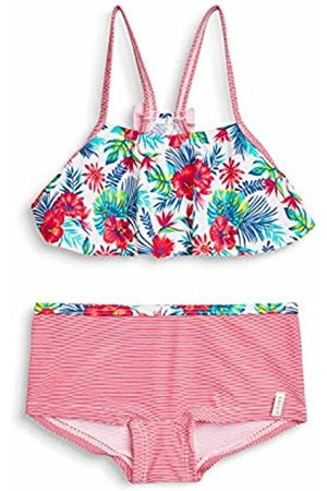 Esprit Girl's Hawai Beach Mg Bustier+Hotpant Swimwear Set, ( Fuchsia 660)