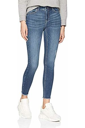 Pieces Women's Pcdelly Skn Mw Cr B184 Mb/noos Skinny Jeans, Medium Denim