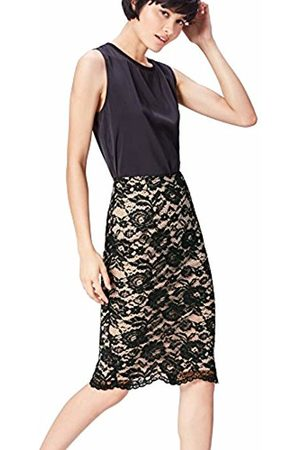 find. FIND Women's Skirt in Pencil Shape with Lace Overlay