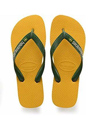 Havaianas Unisex Adults' Brasil Logo Flip Flops,BANANA